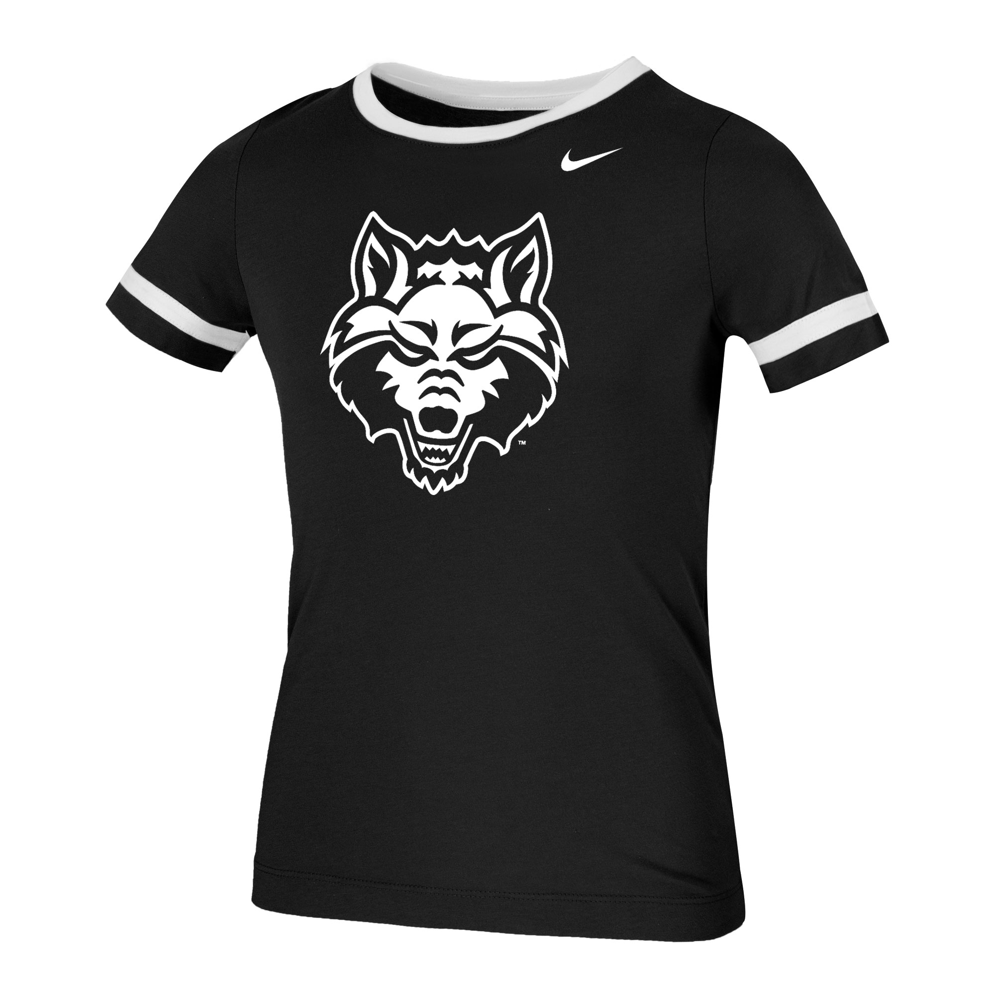 Red Wolves Youth Girls SS Fan Ringer
