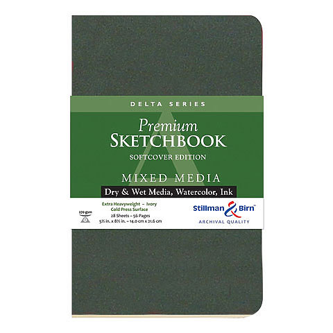 Delta Series Mixed Media Softcover Sketchbook 5.5 x 8.5