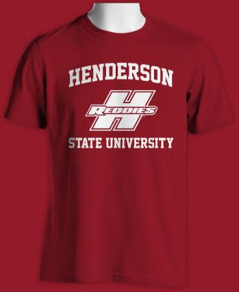Henderson State University Reddies Logo Basic T-Shirt