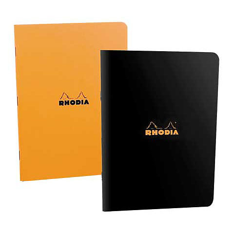 Rhodia Small Side Stapled Grid Notebook 3 x 4.75