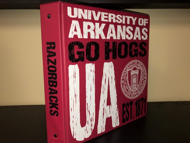 Ring Binder UA Go Hogs Seal