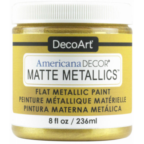 Americana Decor Matte Metallics Flat Paint 8oz