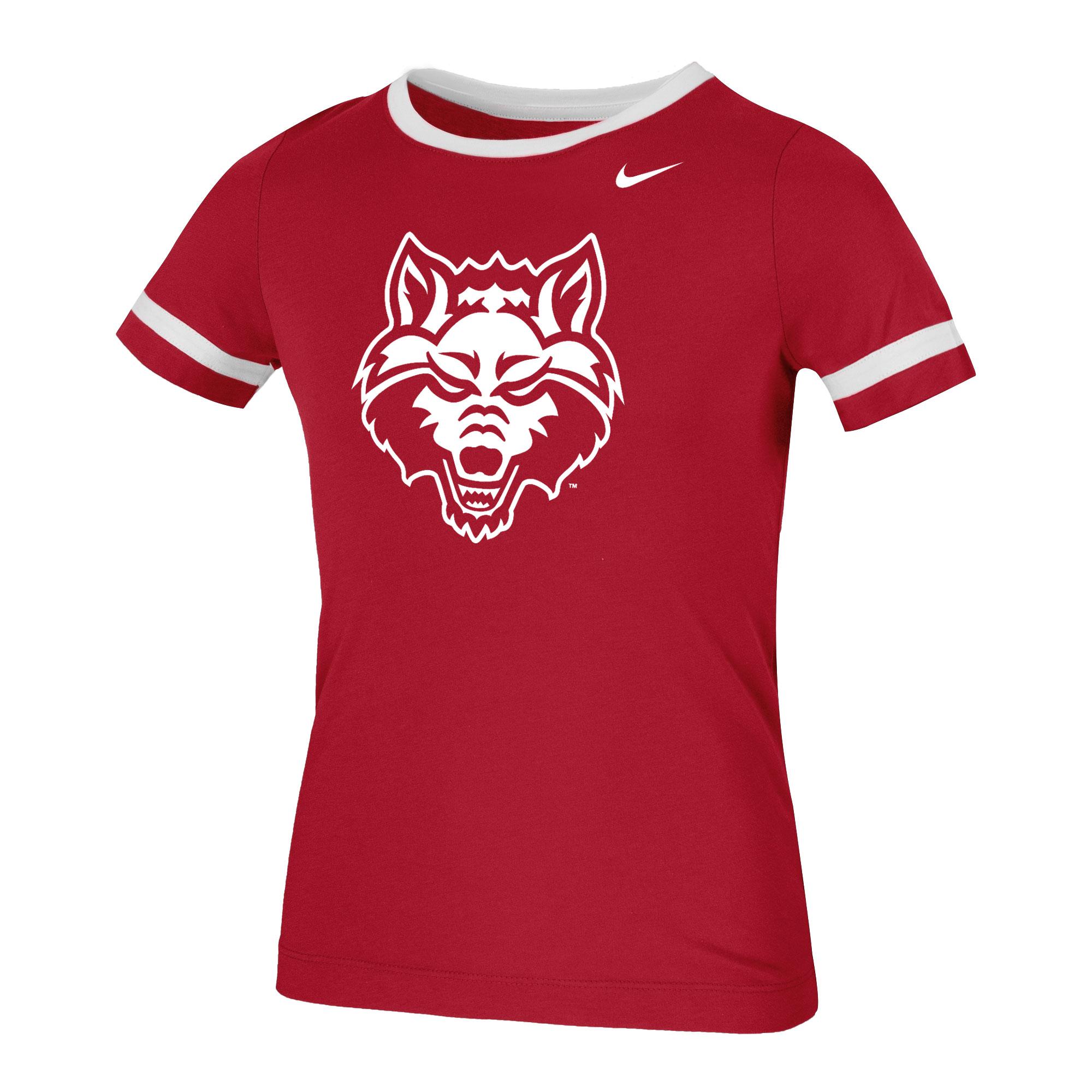 Red Wolves Slub Fan Ringer