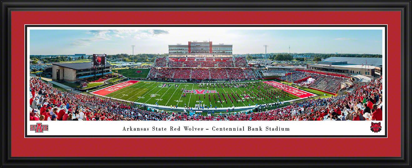 Arkansas State Football Deluxe Framed Panorama
