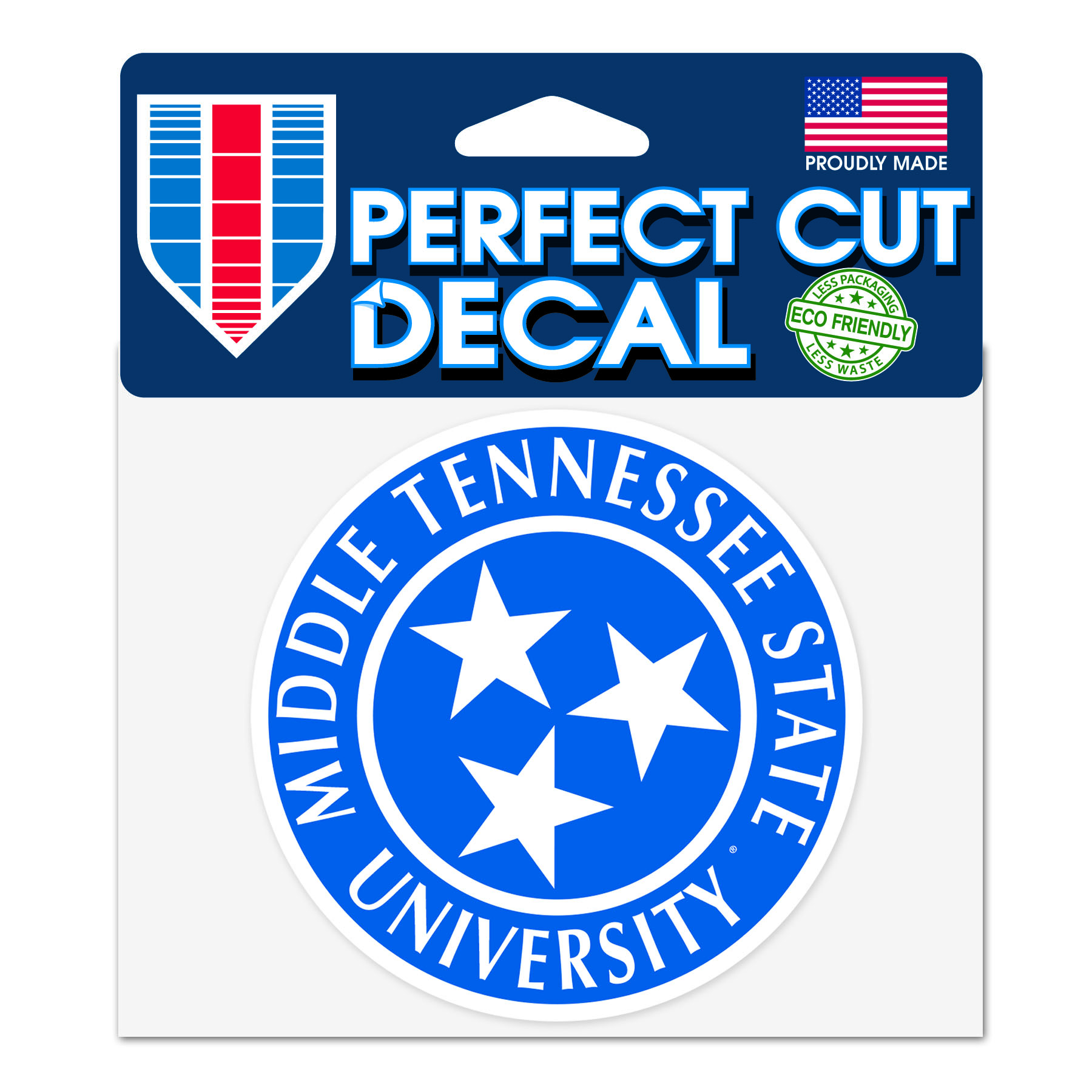 Middle Tennessee Tristar Perfect Cut Decal