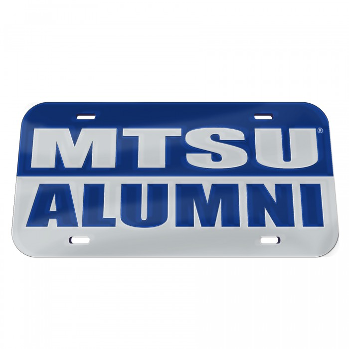 MTSU Alumni Inlaid License Plate
