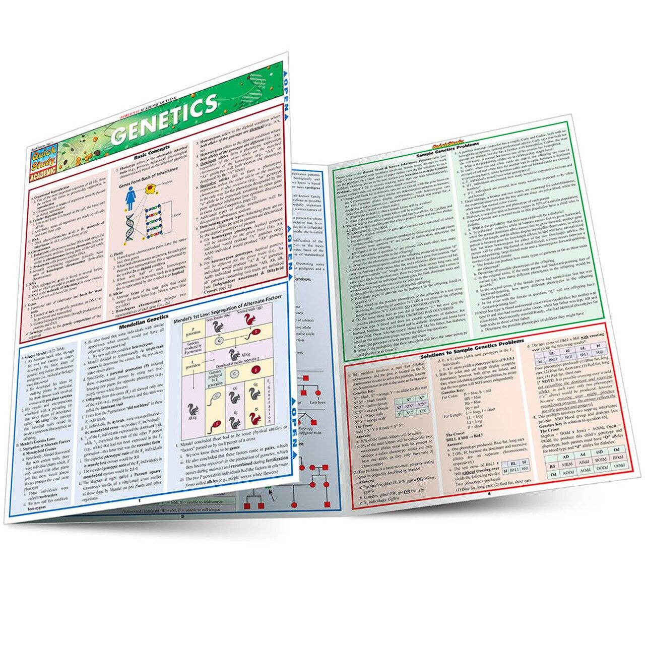 QuickStudy Genetics Laminated Study Guide