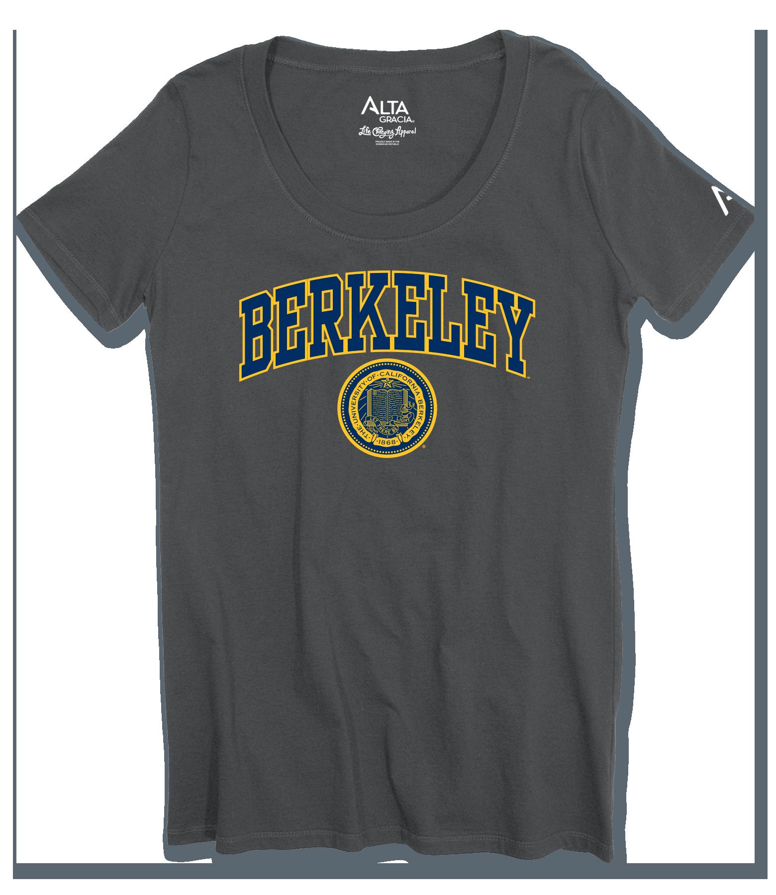 """Women's Short Sleeve Scoop Neck Tee """"Berkeley"""" Seal"""
