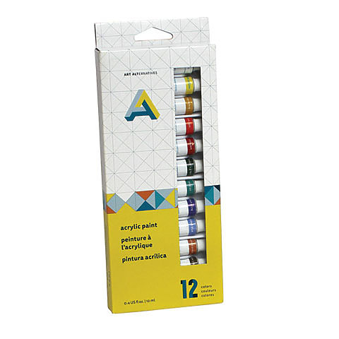 Acrylic Paint 12-Color Tube Set