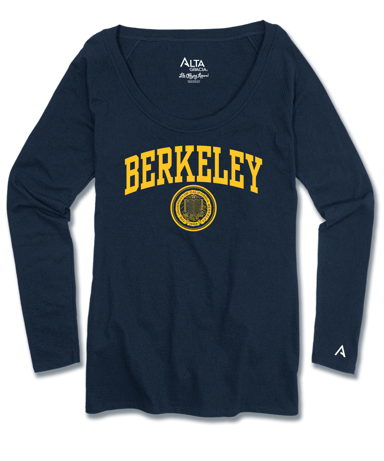 "Women's Long Sleeve Scoop Neck Raglan Tee ""Berkeley"""