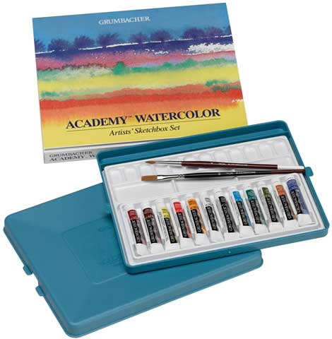 Academy Watercolor Sketchbox Set