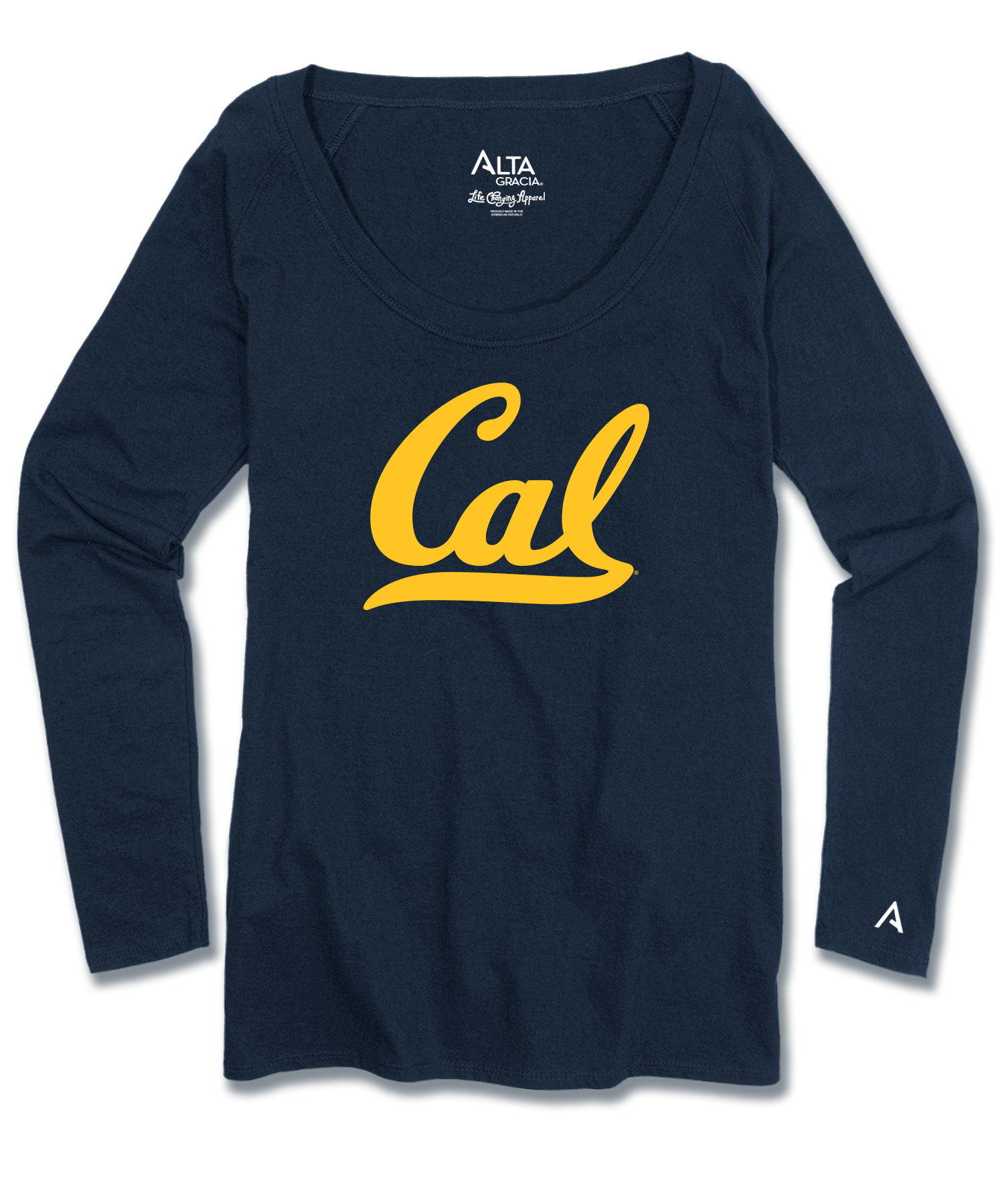 "Women's Long Sleeve Scoop Neck Tee ""Cal"""