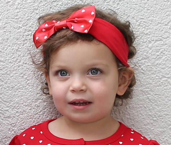 Infant Girls Heart Headband