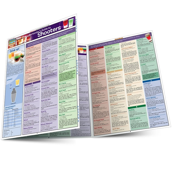 QuickStudy Bartender'S Guide To Shooters Laminated Reference Guide