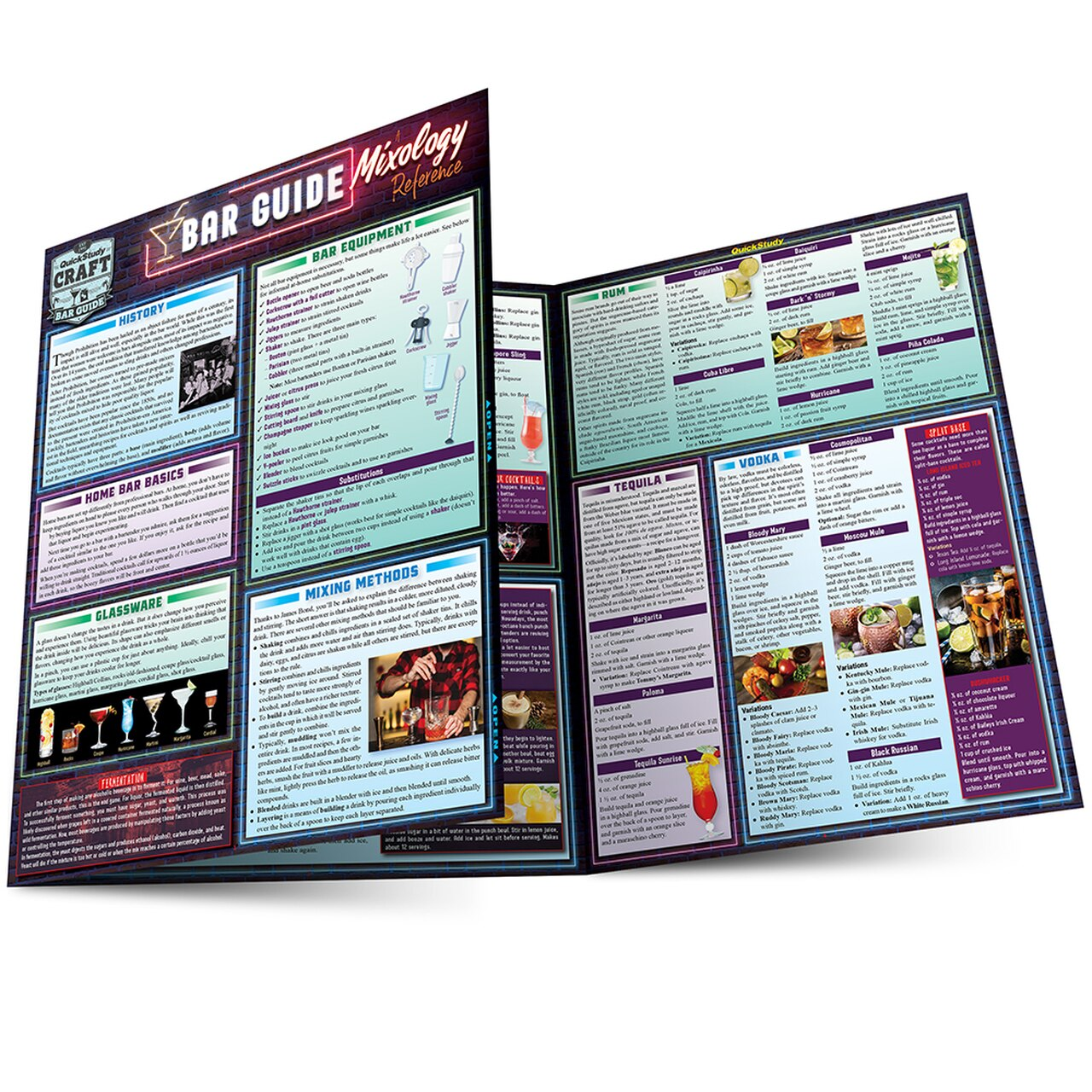 QuickStudy | Bar Guide: A Mixology Laminated Reference Guide