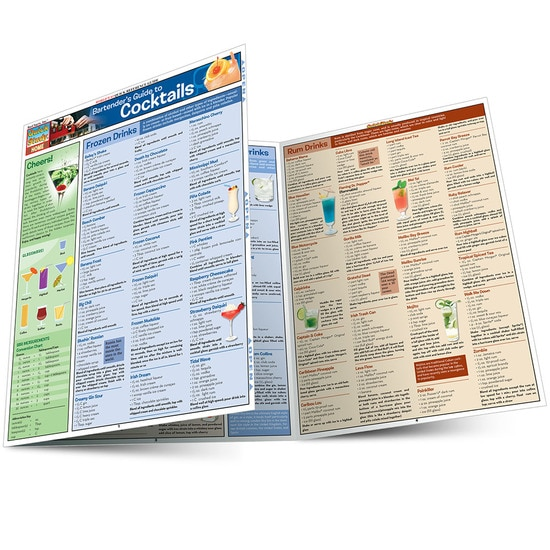QuickStudy | Bartender'S Guide To Cocktails Laminated Reference Guide