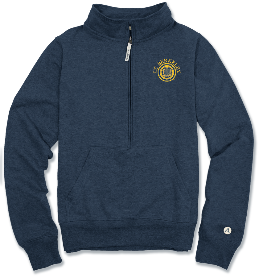 University of California Berkeley Lidia 1/2 Zip Fleece Seal