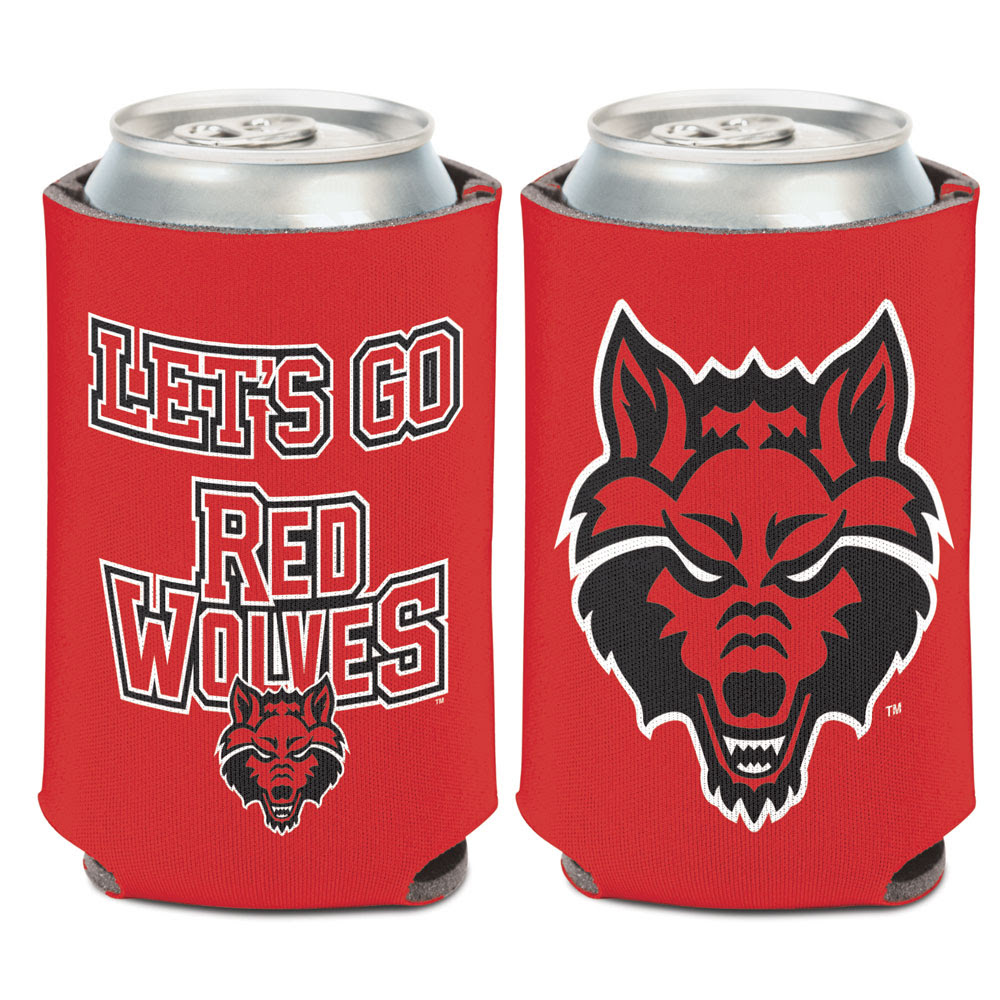 Let's Go Red Wolves Can Cooler