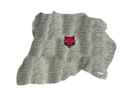 Red Wolves Heathered Sherpa Blanket w/ Fleece Backing