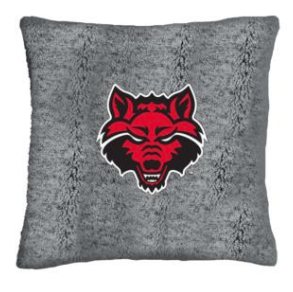 Red Wolves Heathered Sherpa Pillow