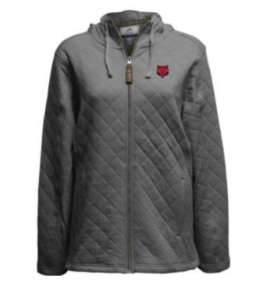 Red Wolves Quilted Full Zip Jacket