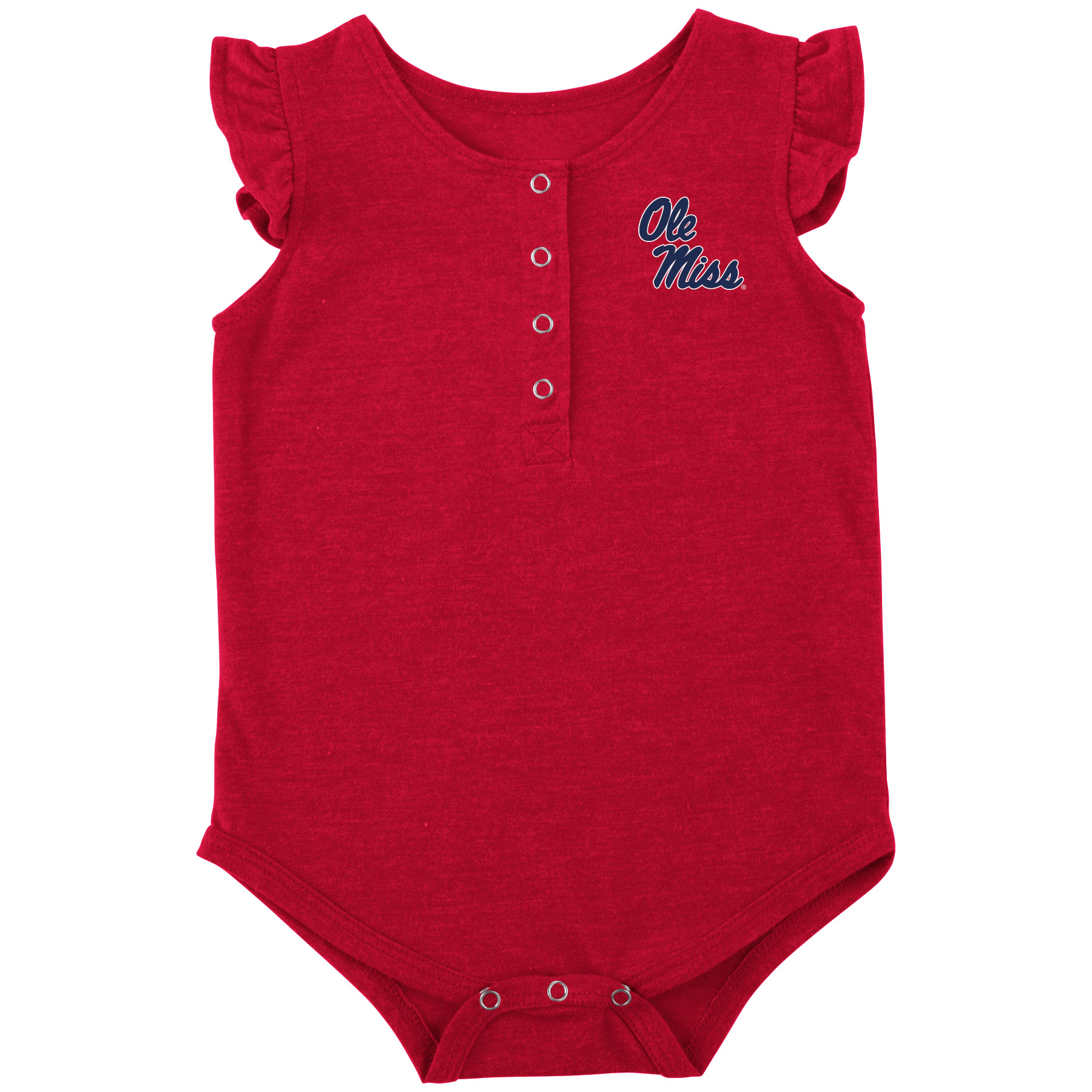 Infant Girl Script Onesie Red