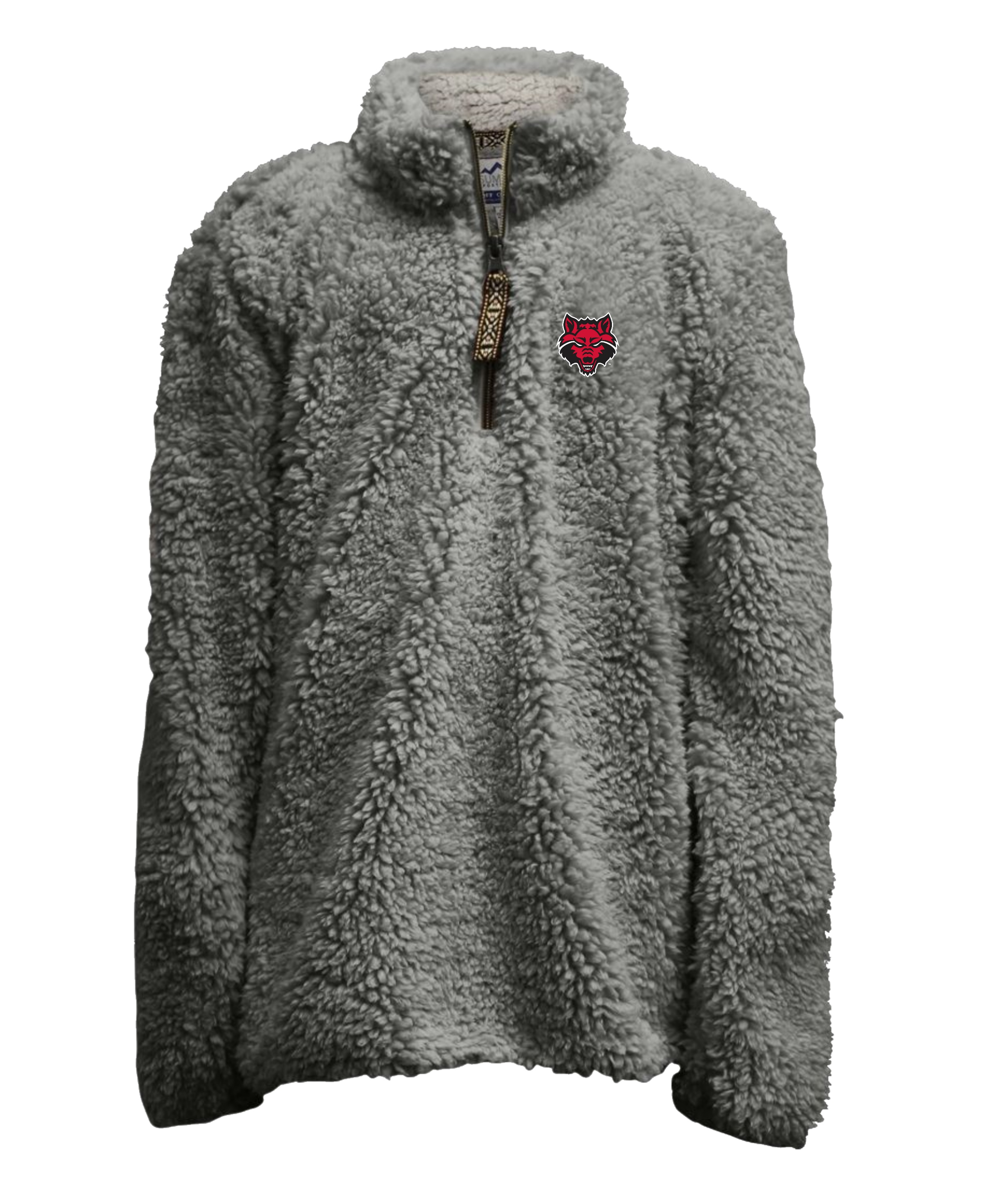 Arkansas State Youth Heathered Sherpa 1/4 Zip Pull Over