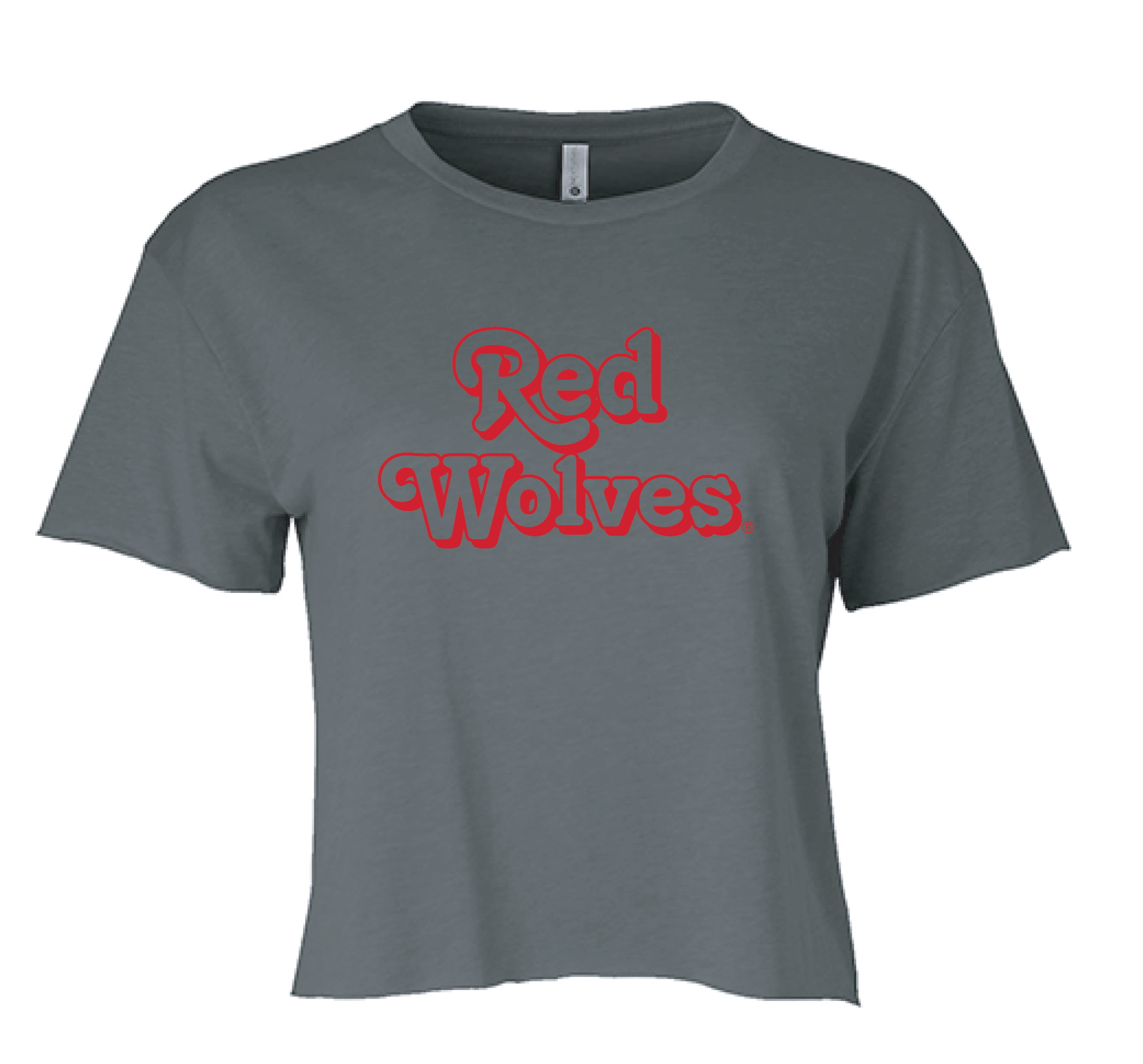 Red Wolves Cropped Lightweight Crew Neck S/S Tee