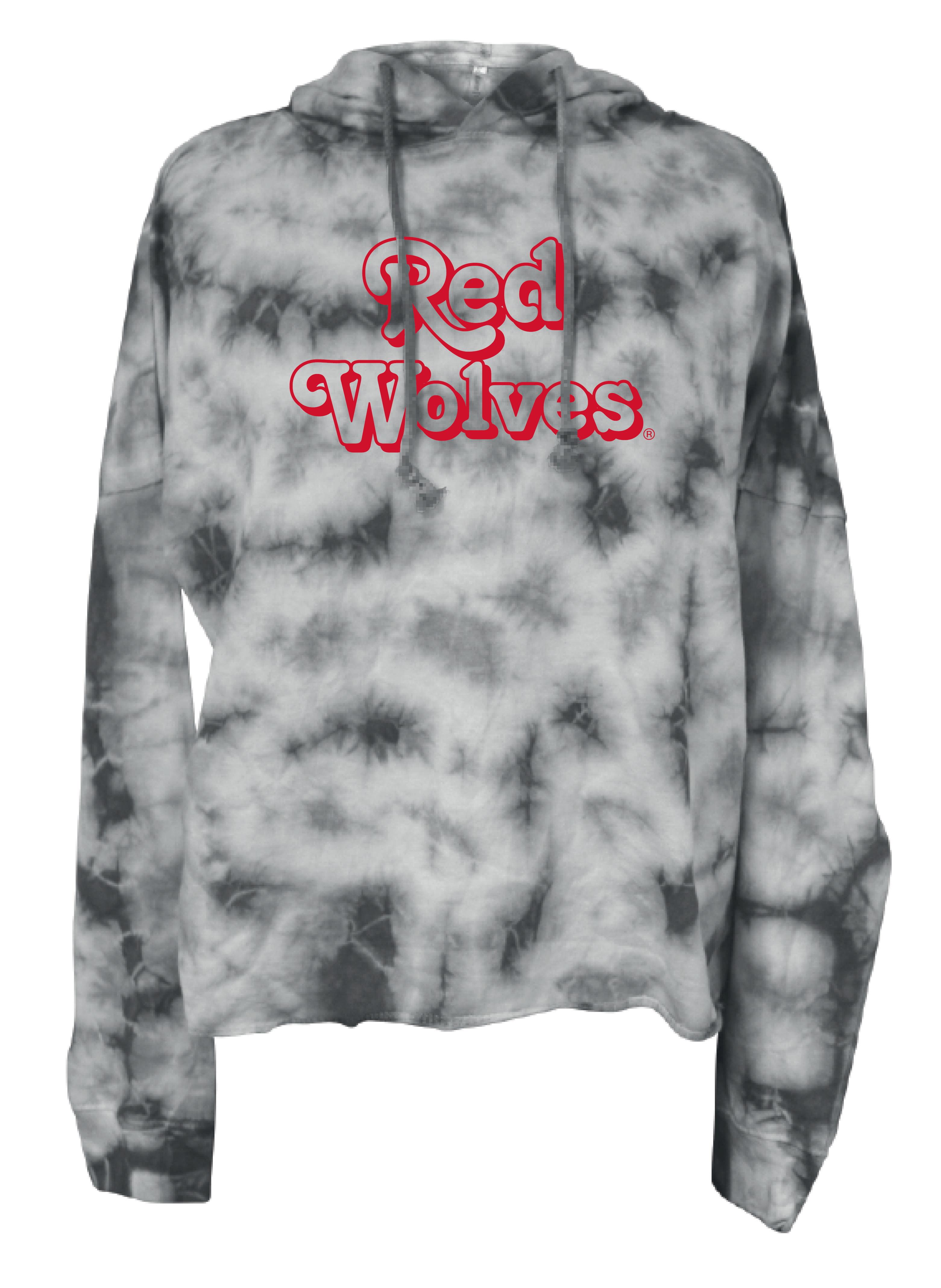 Red Wolves Tie Dye L/S Hoodie