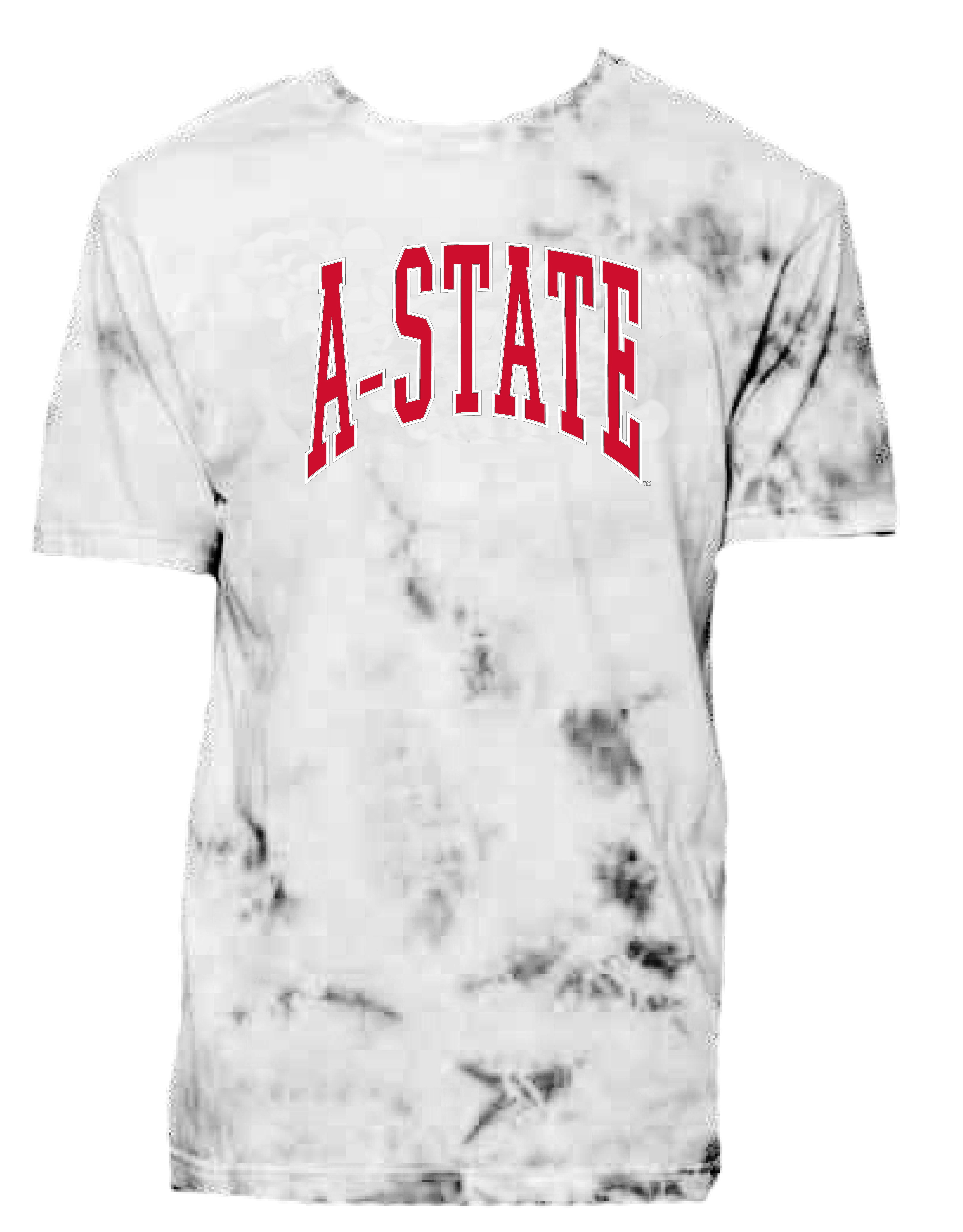 A-State Oversized Tie Dye Crew Neck Tee