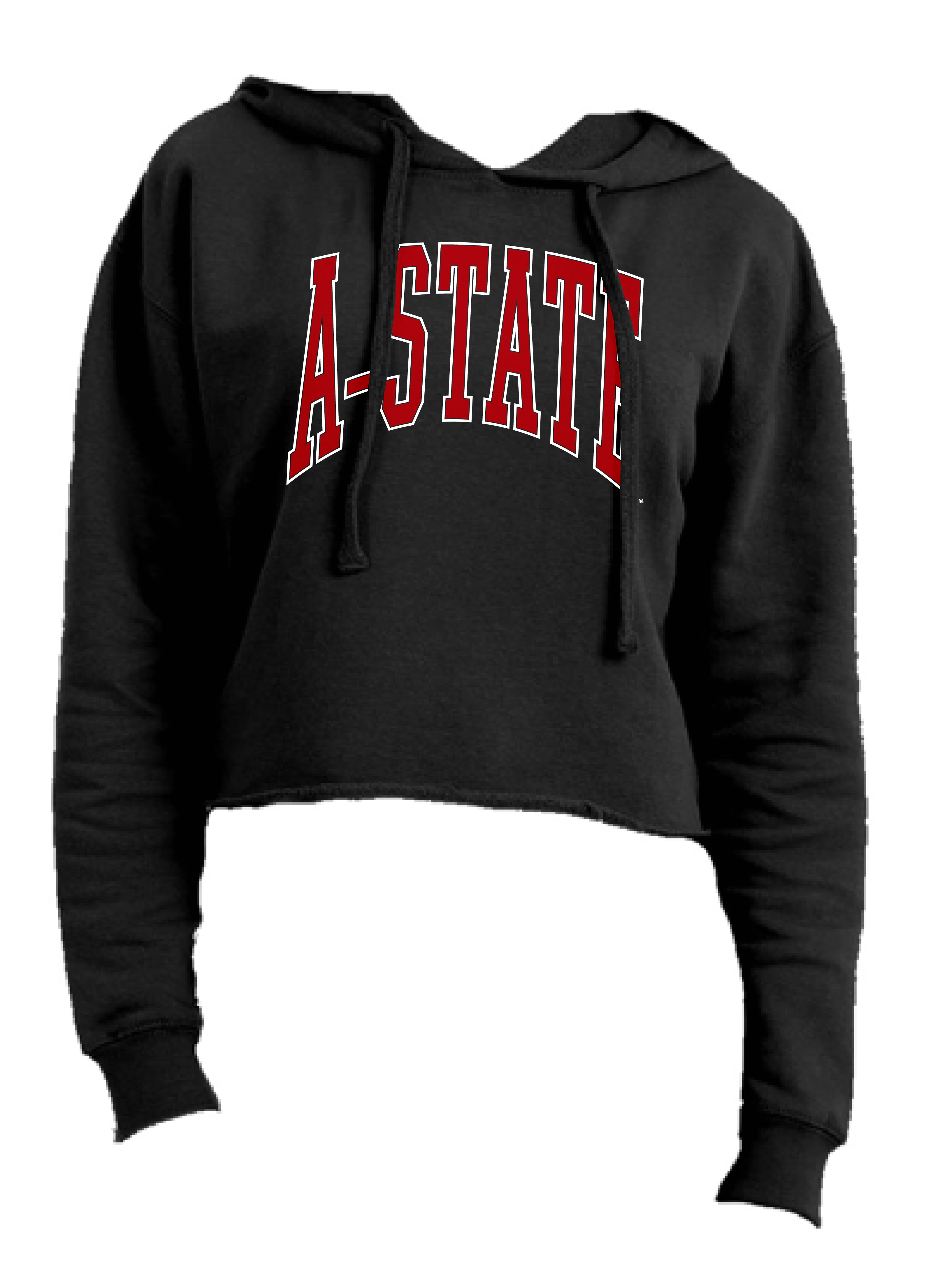 A-State Cropped Fleece Hoodie Sweatshirt
