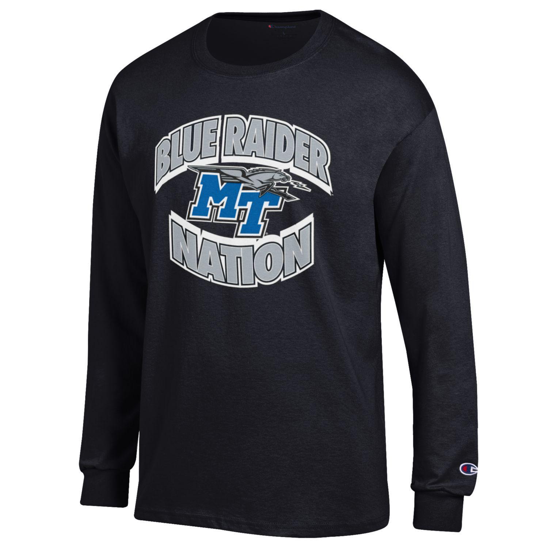 Blue Raider Nation Long Sleeve Shirt