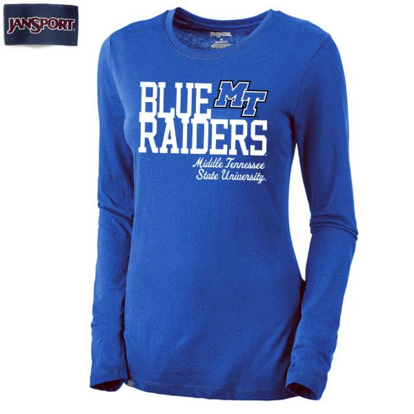 Blue Raiders MTSU Piper Women's Long Sleeve Shirt