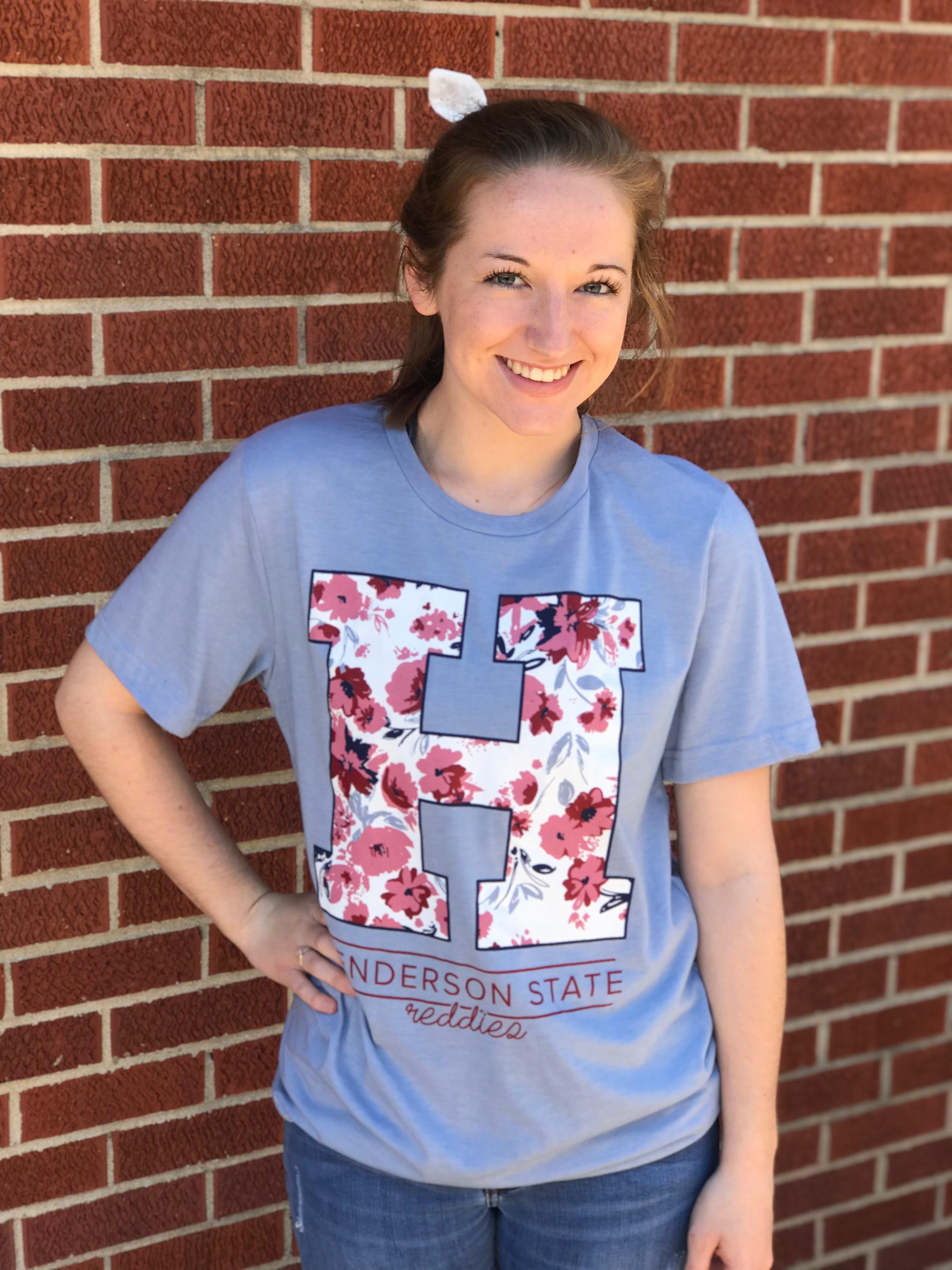 Floral H T-shirt