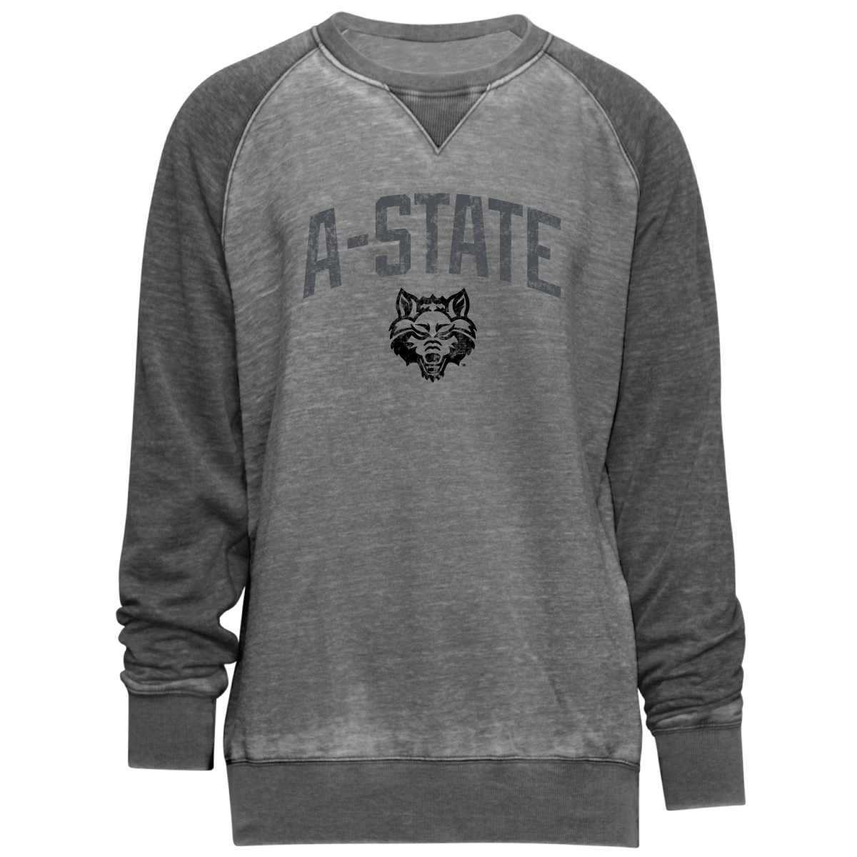 Arkansas State Fleece Colorblock Crew