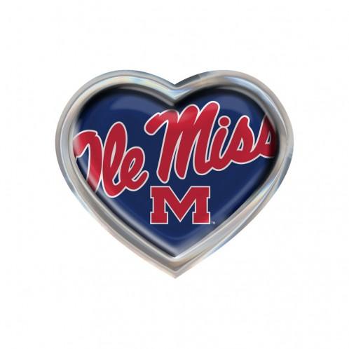 Metal Auto Emblem Domed Heart