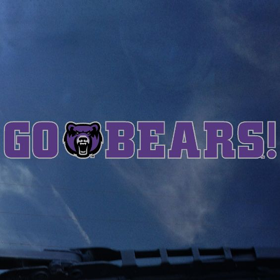 Go Bears! Long Decal