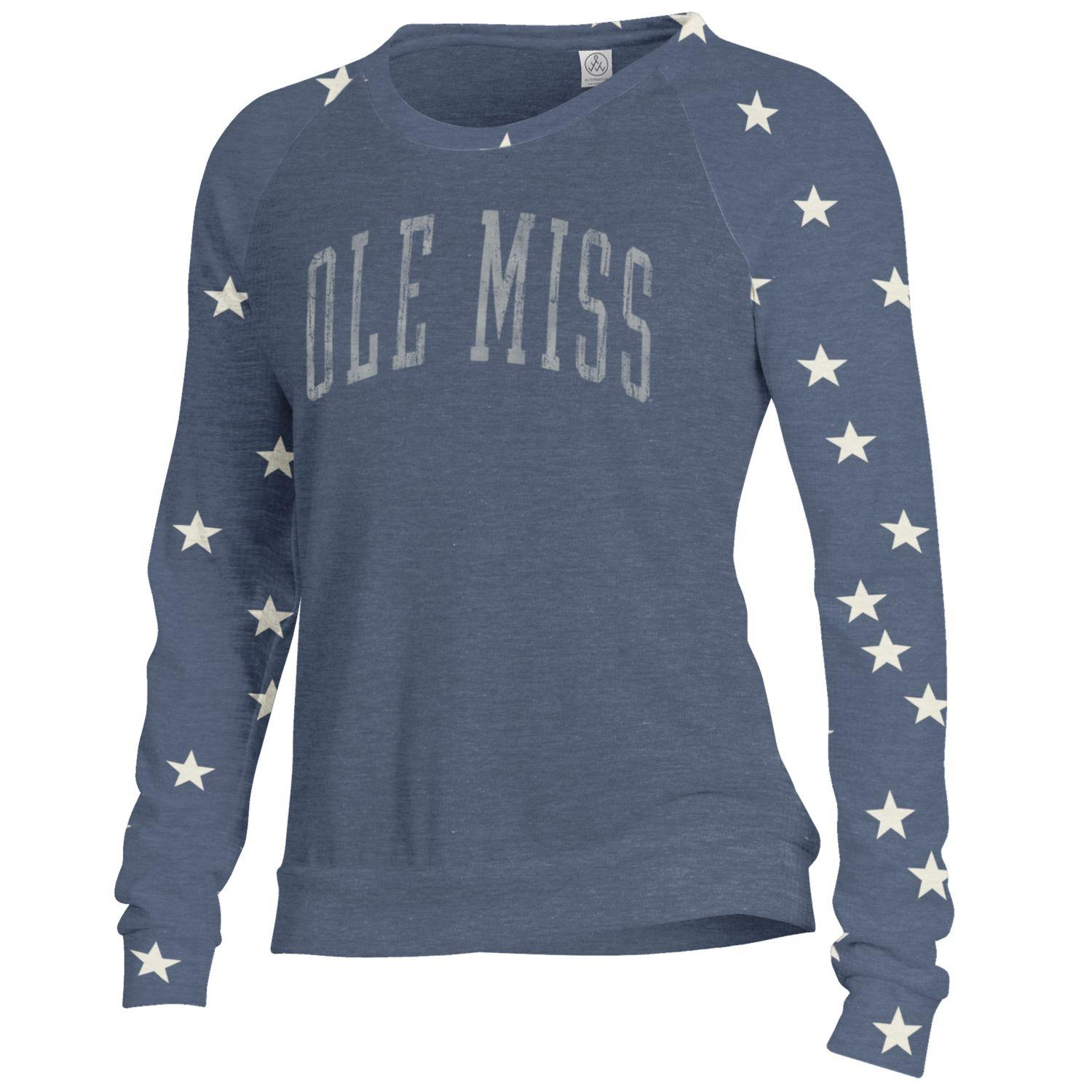 Womens Slouchy Star Pullover