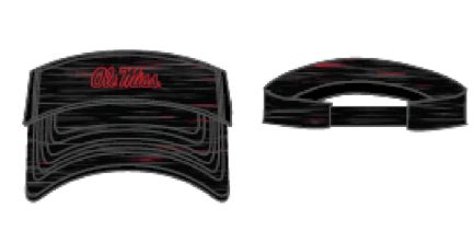 Obsidian Visor Two-Tone Black/Red