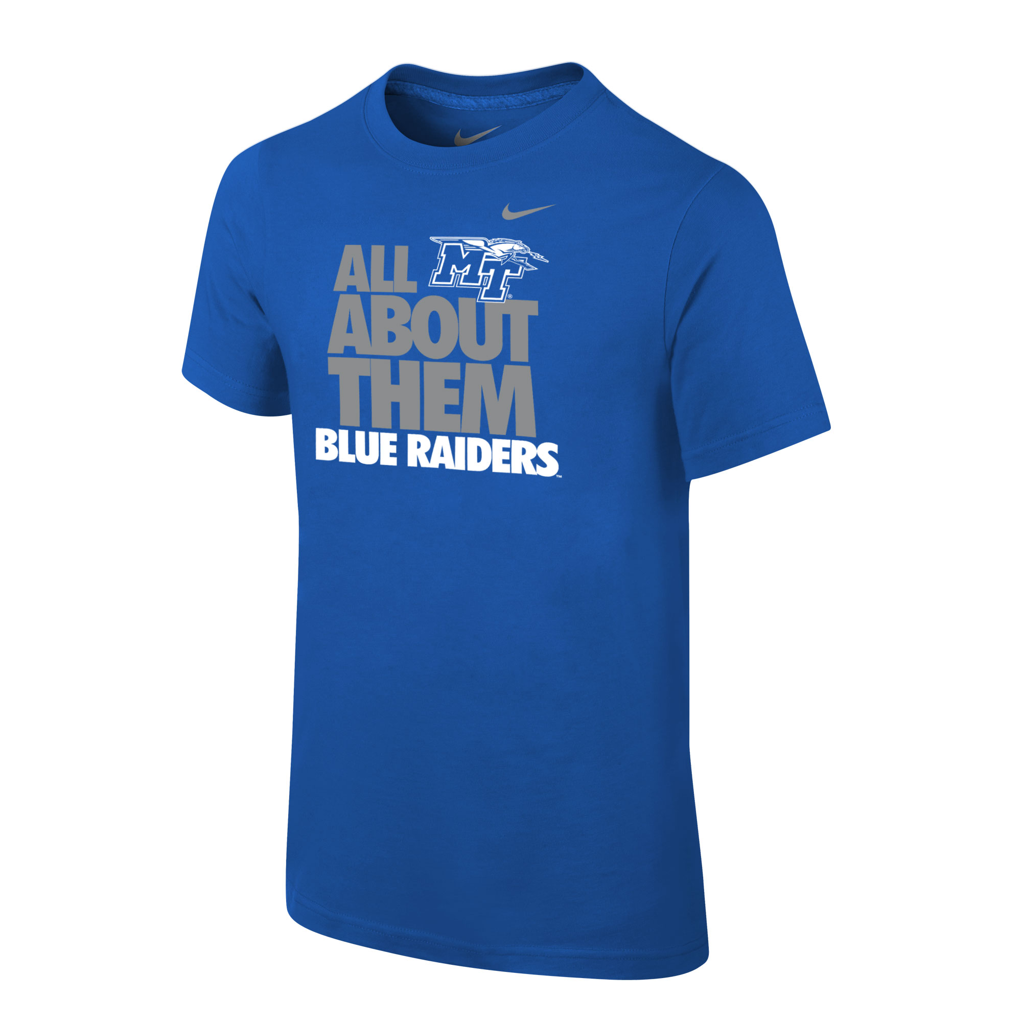 Youth All About Them Blue Raiders Nike® Tshirt