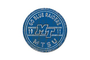 Go Blue Raiders Circle Wall Mount 12x12