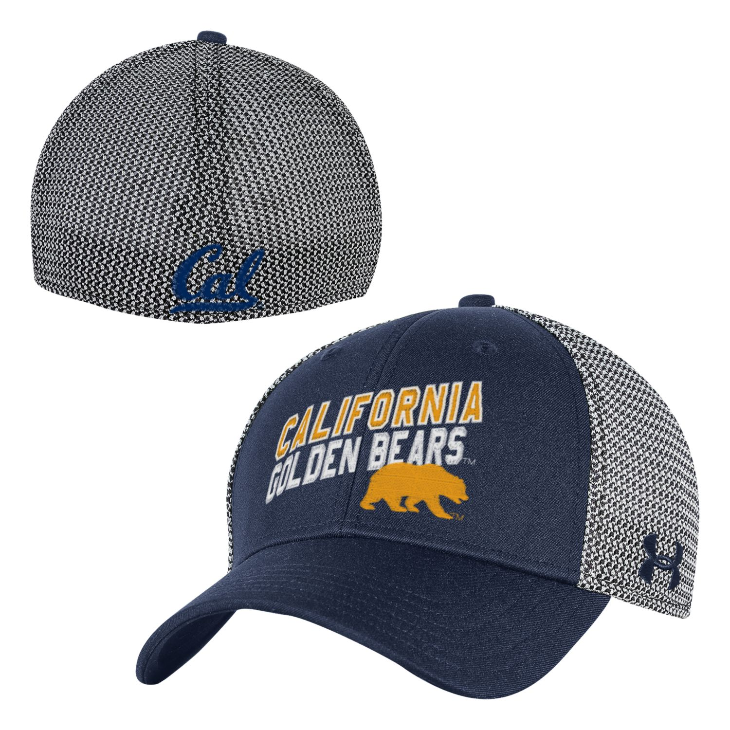 University of California Berkeley Under Armour Men's Mesh Knit Stretch Fit Cap