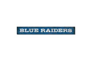 """Blue Raiders"" Doorway Plank Sign 4x36"