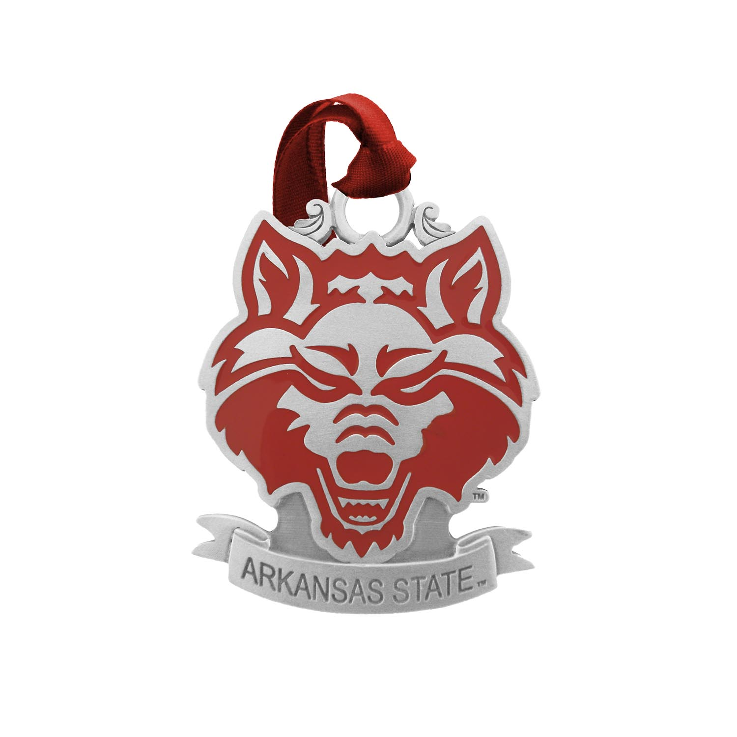 Arkansas State Sparta Pewter Ornament