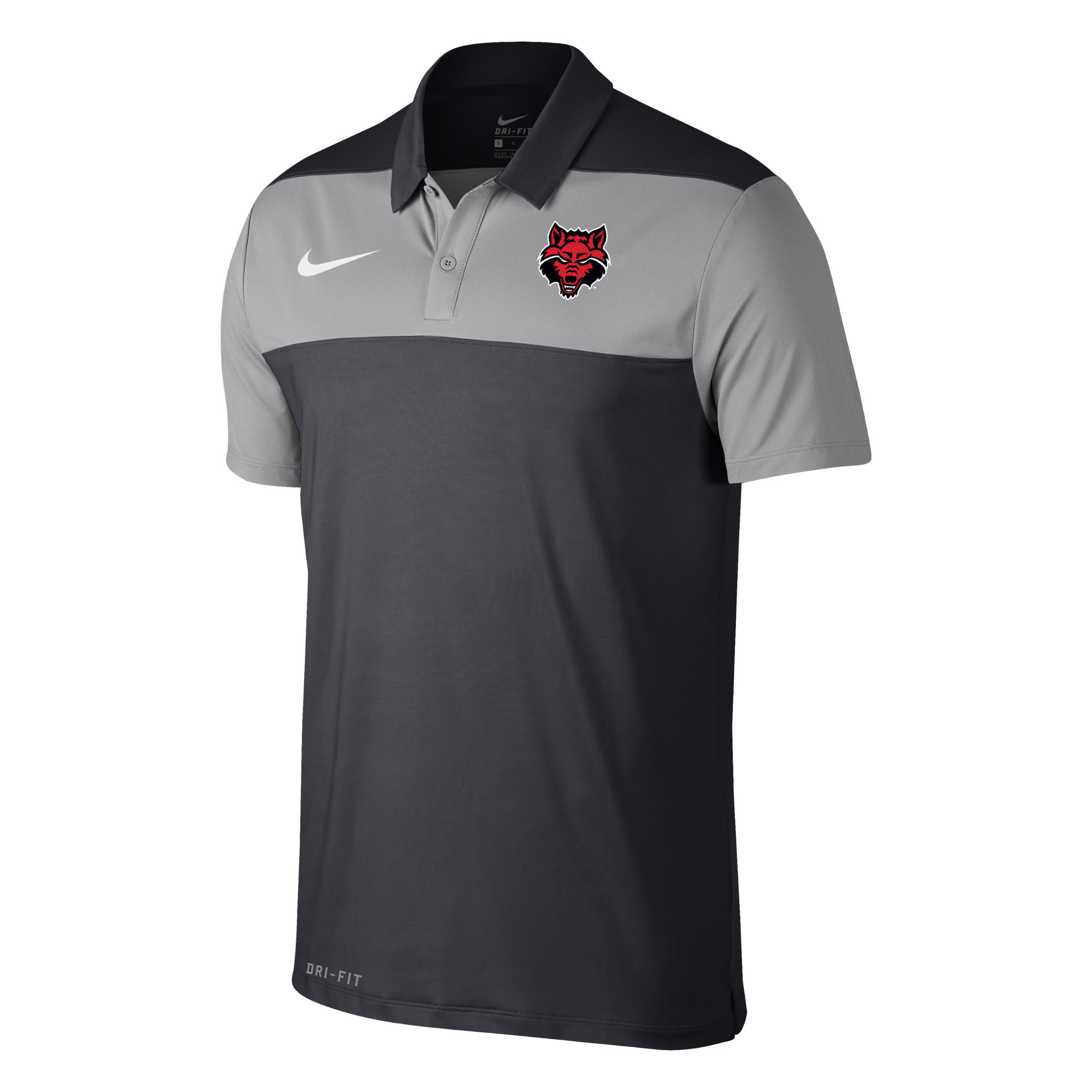 Red Wolves Color Block Polo