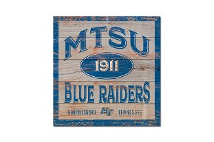 MTSU Five & Dime Wood Plank Square 17x17