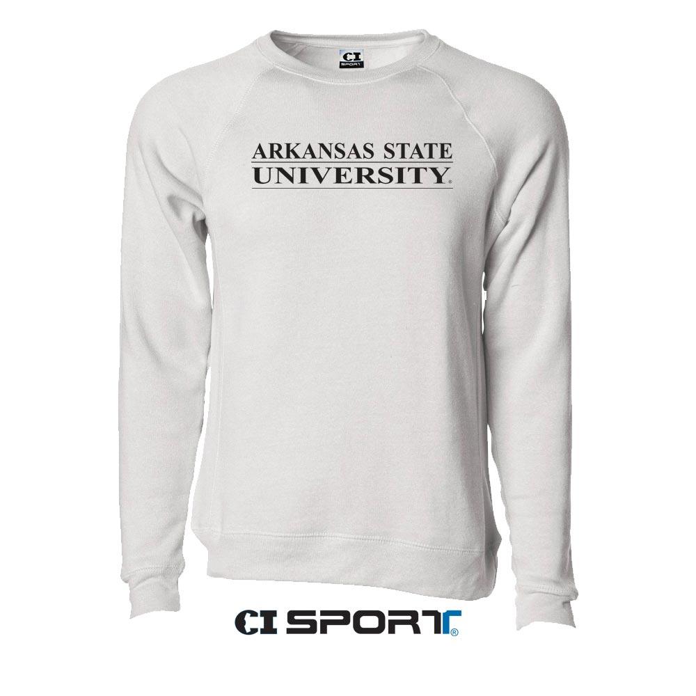 Arkansas State Blended Raglan Crew