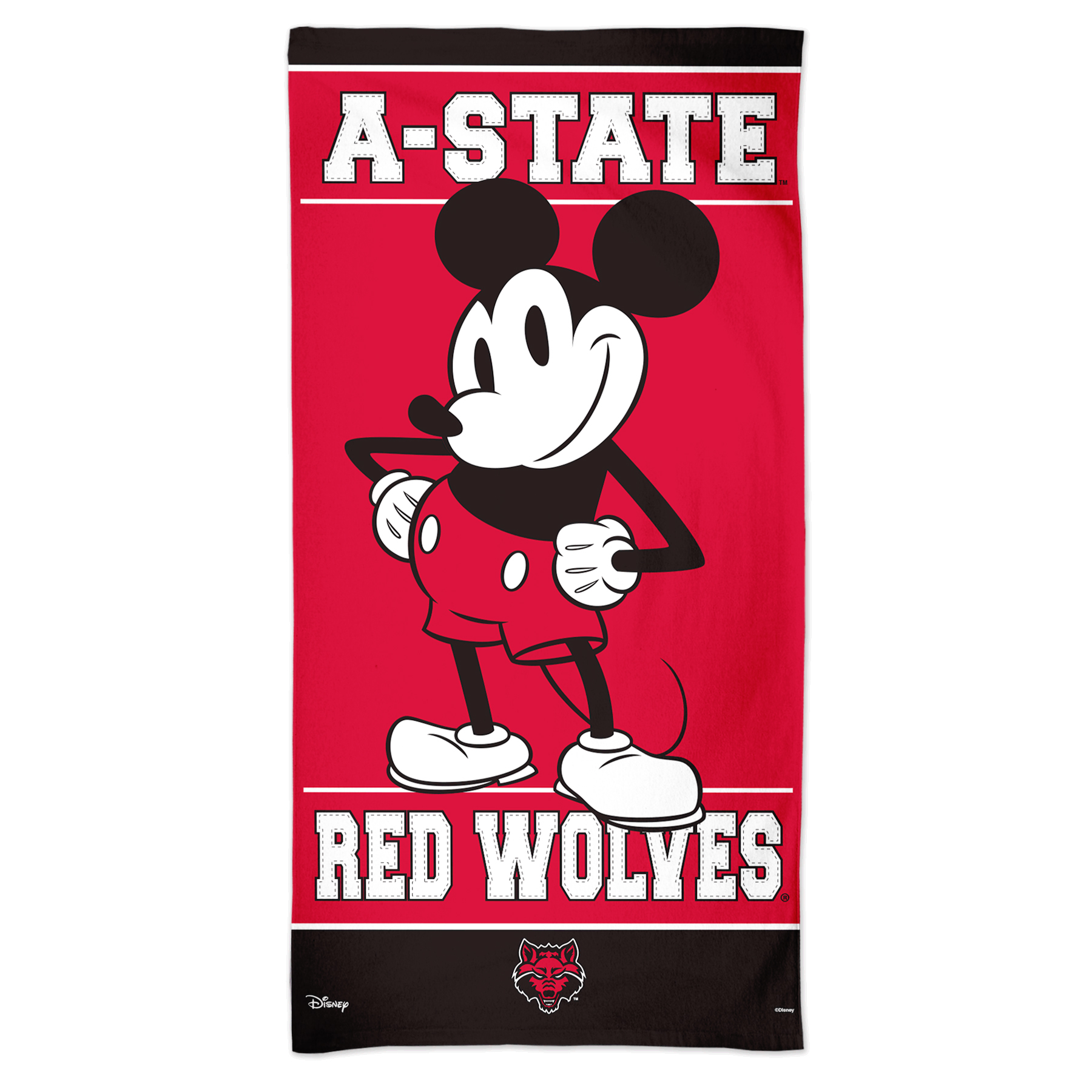 Red Wolves Disney 30x60 Beach Towel