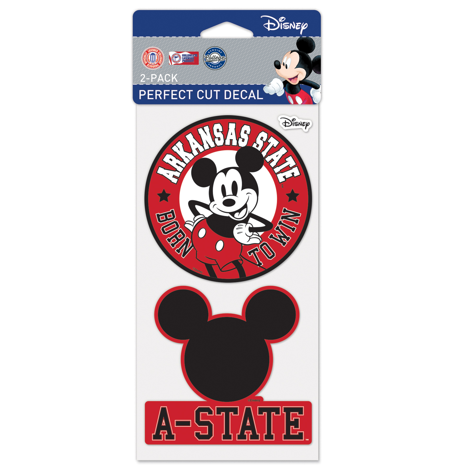 A-State & Mickey Perfect Cut Decal Set
