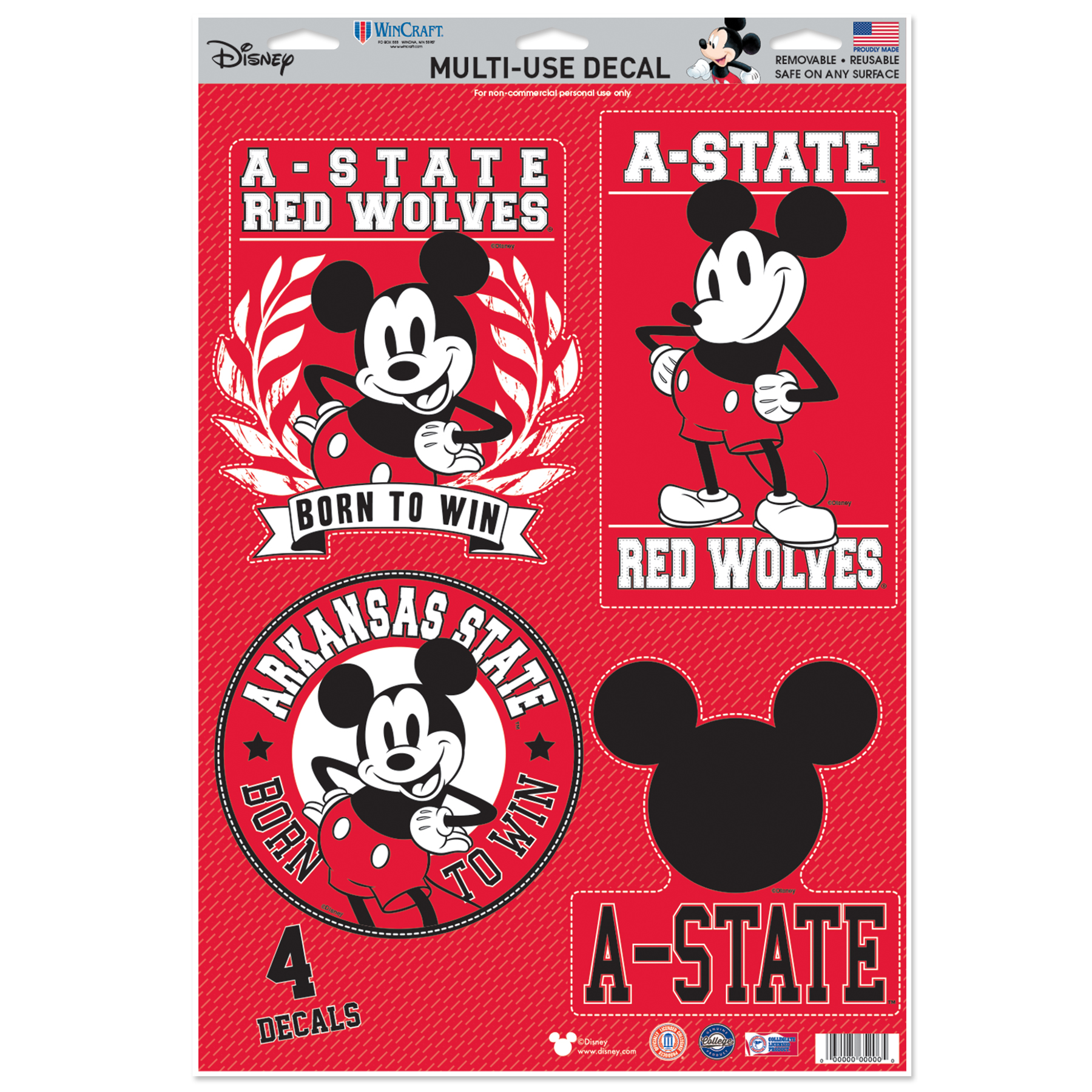 A-State & Disney Decals - 4 Pack